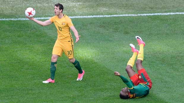 Robbie Kruse against Cameroon.