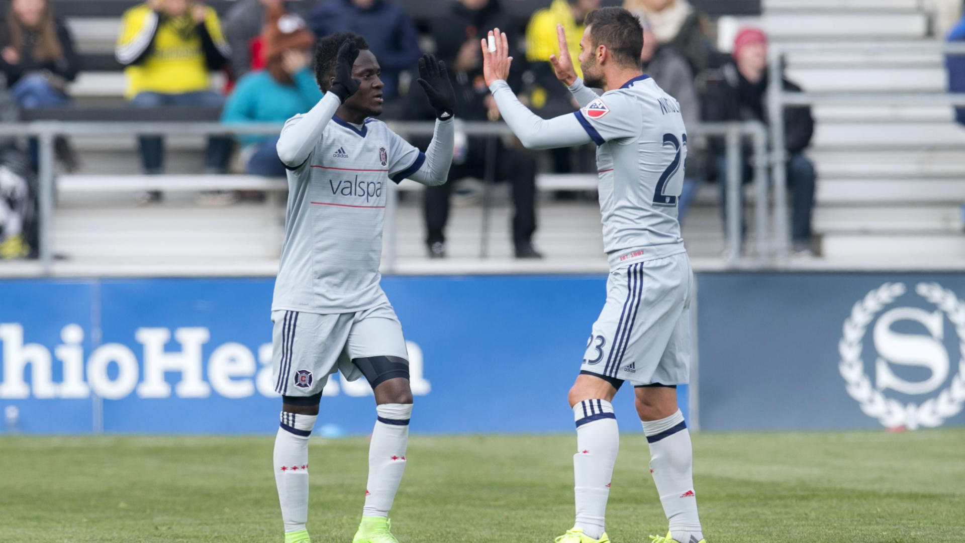 David Accam Nemanja Nikolic Chicago Fire