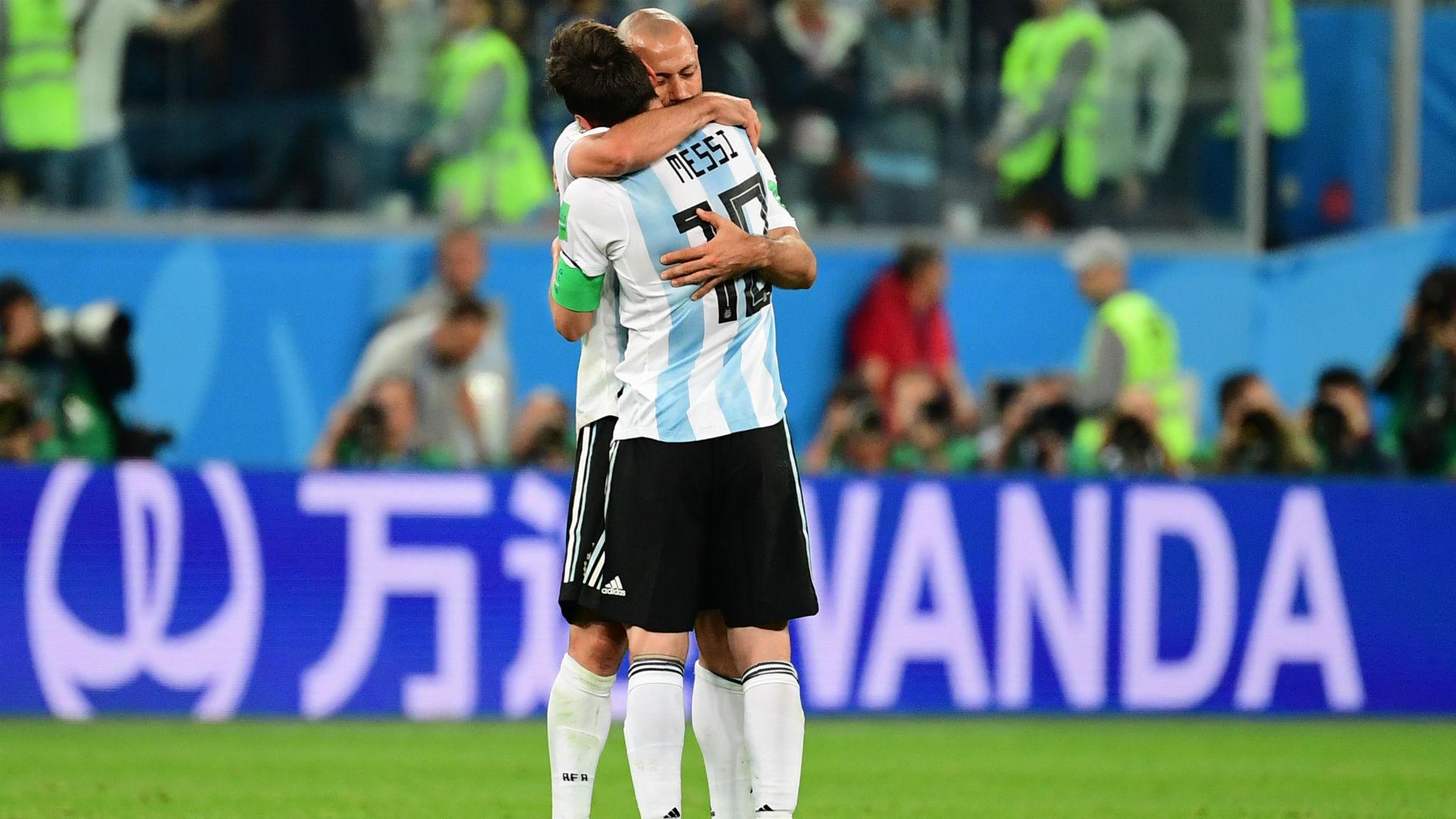 Messi Mascherano Argentina Nigeria World Cup Russi 2018 26062018