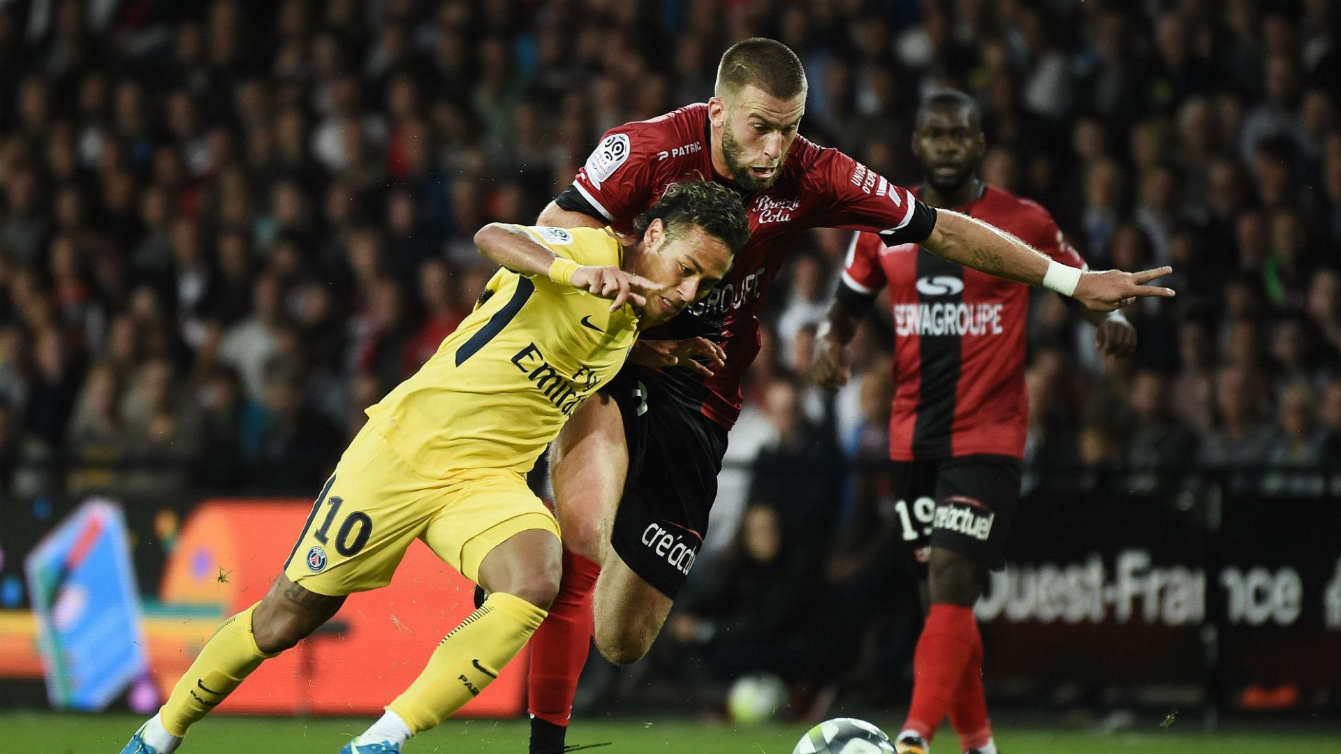 Neymar  Lucas Deaux EAG PSG Ligue 1 13082017