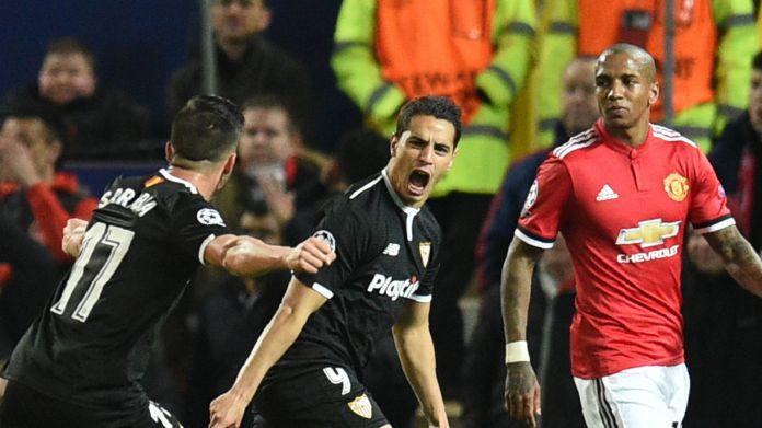 Wissam Ben Yedder Ashley Young Sevilla Manchester United Champions League