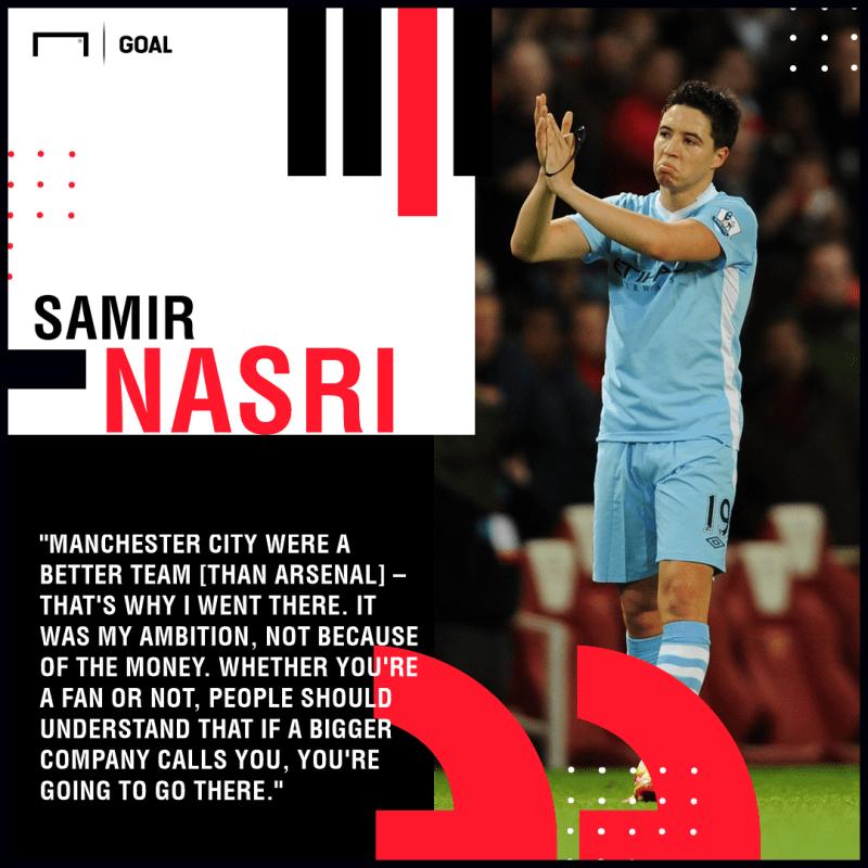 Samir Nasri Man City Arsenal PS