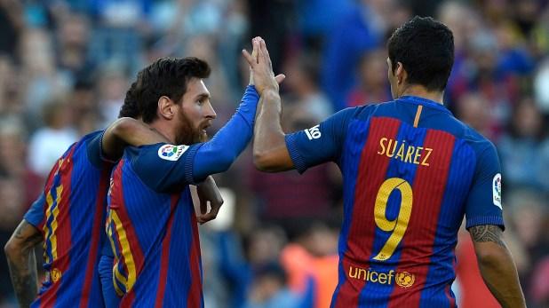 Messi Suarez Neymar Barcelona