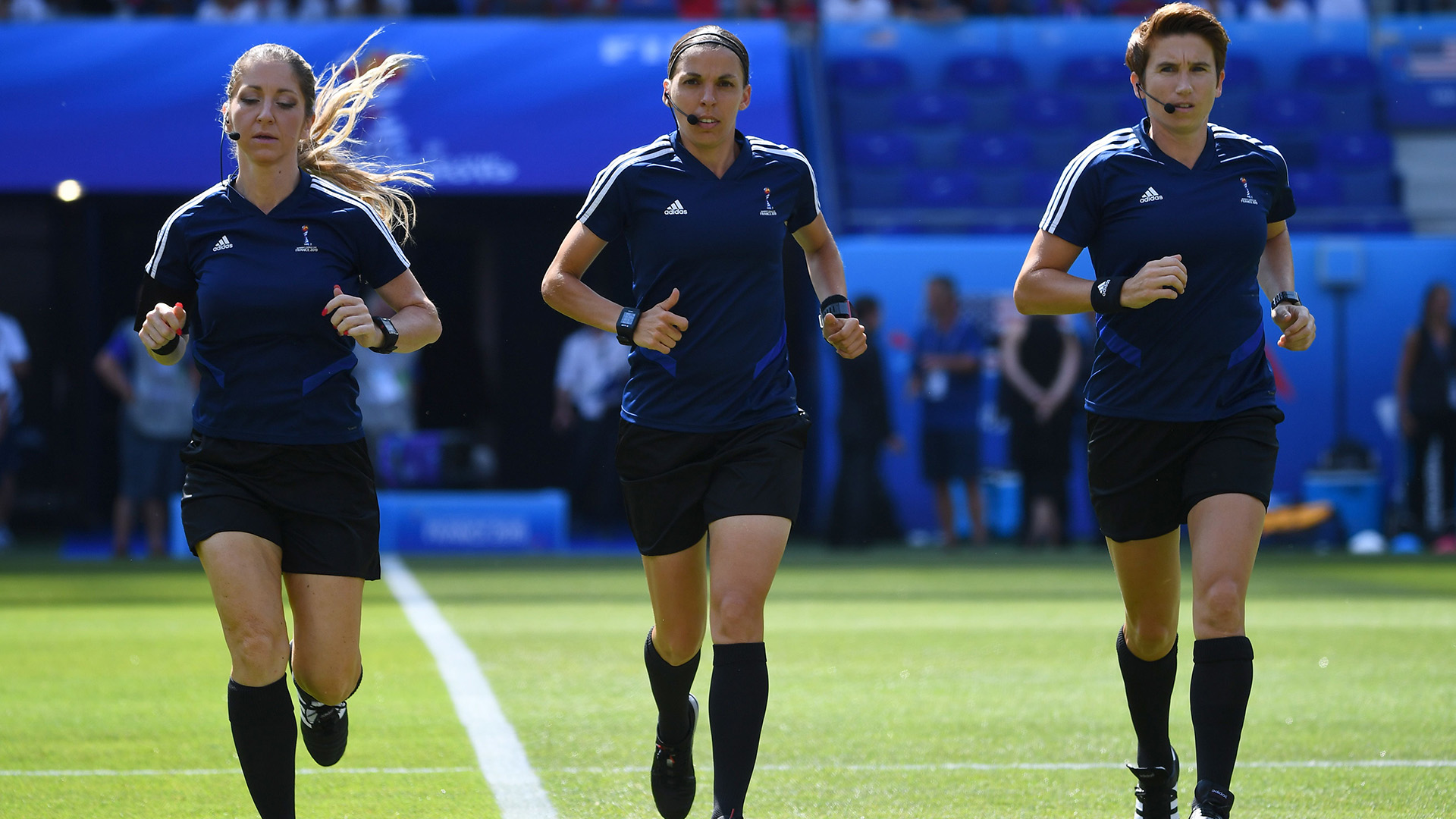 Manuela Nicolosi Stephanie Frappart Michelle O'Neill referee Women's World Cup final 2019