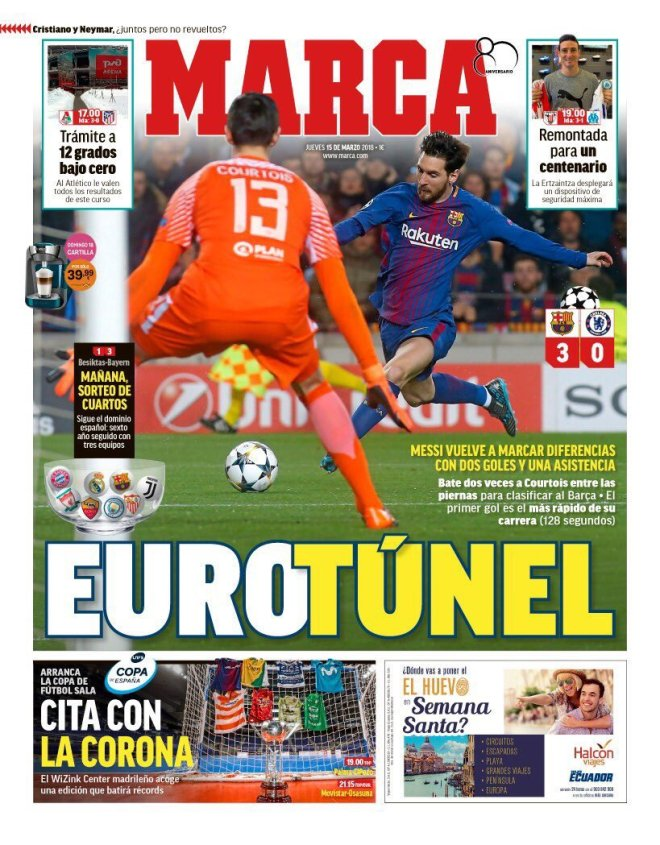 Une Marca Lionel Messi Barça-Chelsea