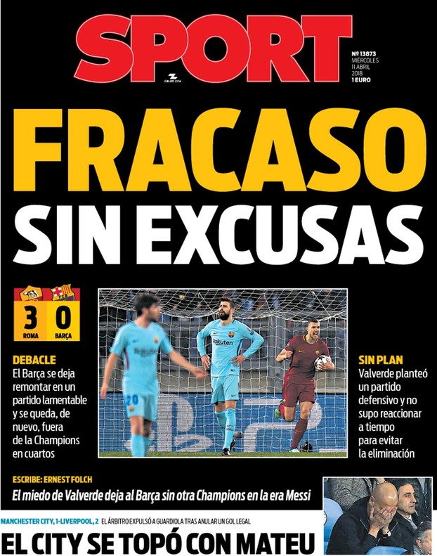 SPORT front page 11/04