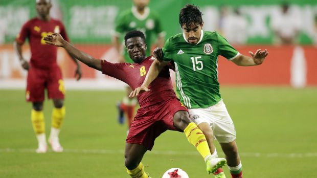 Rodolfo Pizarro Ebenezer Ofori Mexico Ghana international friendly