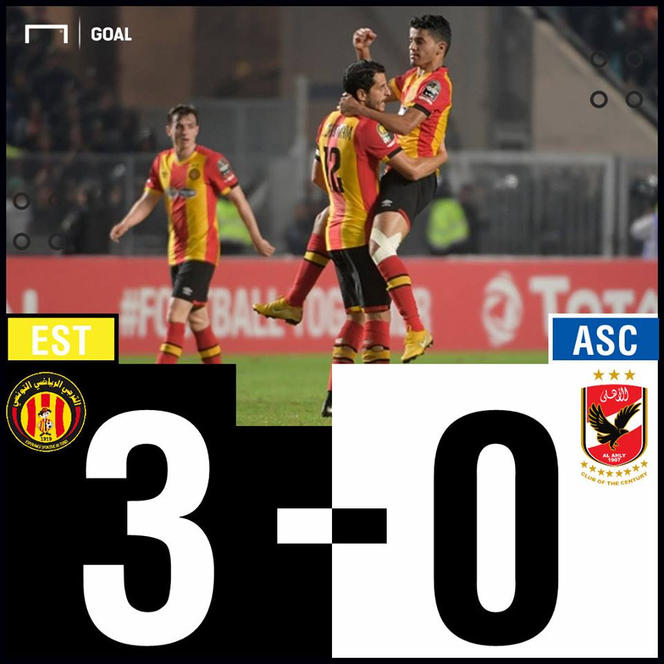 Esperence Ahly scoreline PS