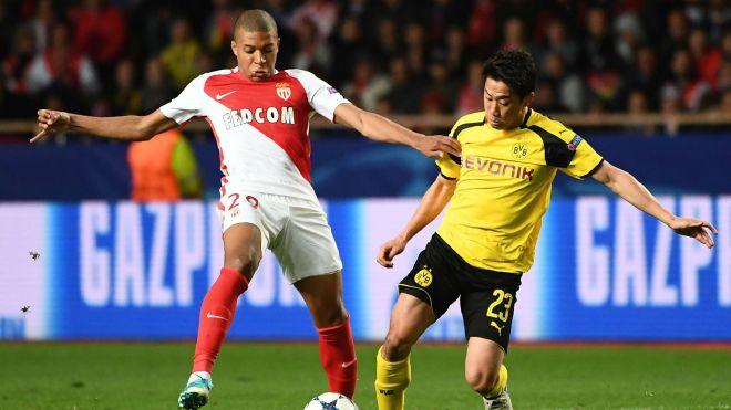 Kylian Mbappe Shinji Kagawa Monaco Dortmund Champions League 19042017