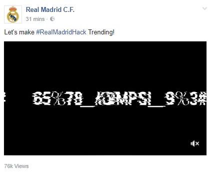 Real Madrid Facebook Hack 2