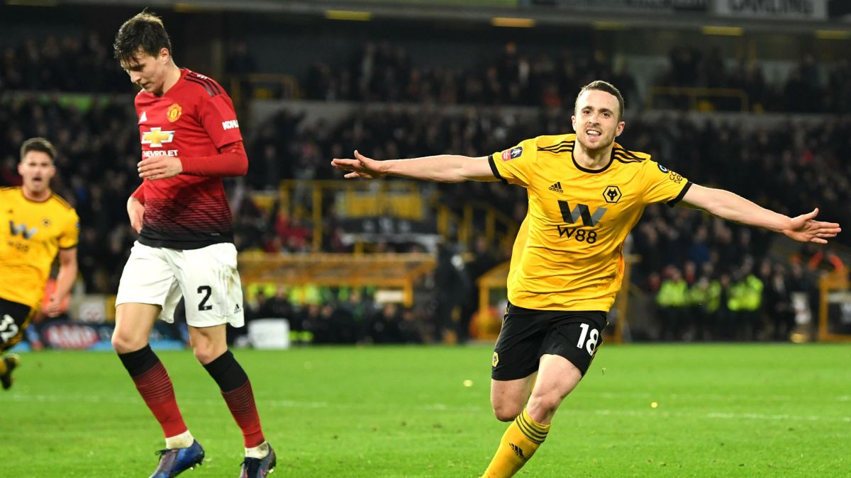 Diogo Jota Wolves Manchester United FA Cup 2019