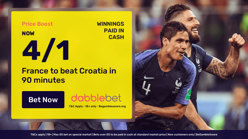 World Cup final price boost dabblebet in article