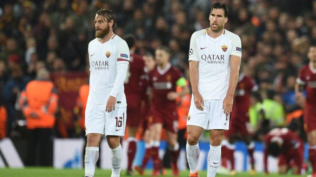 Daniele De Rossi Kevin Strootman Liverpool Roma