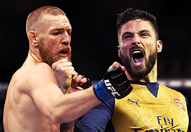 Arsenal striker Giroud challenges UFC champion McGregor