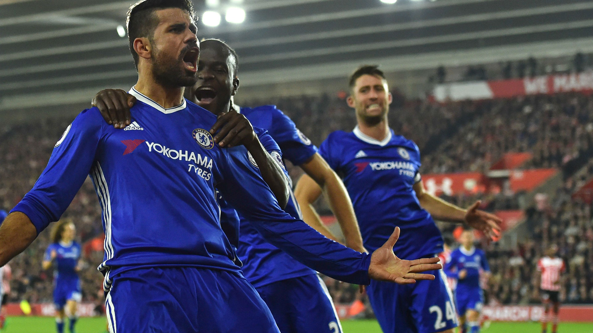 Southampton 0-2 Chelsea: Hazard & Costa fire Blues into top four