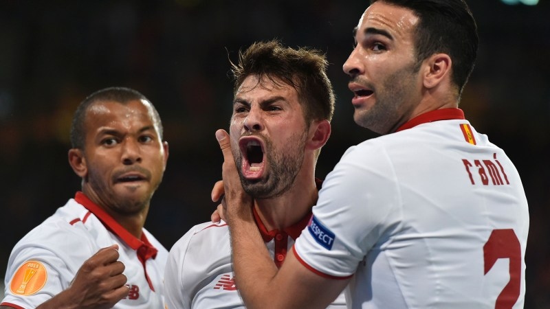 Liverpool 1-3 Sevilla: Coke double secures a Europa League three-peat