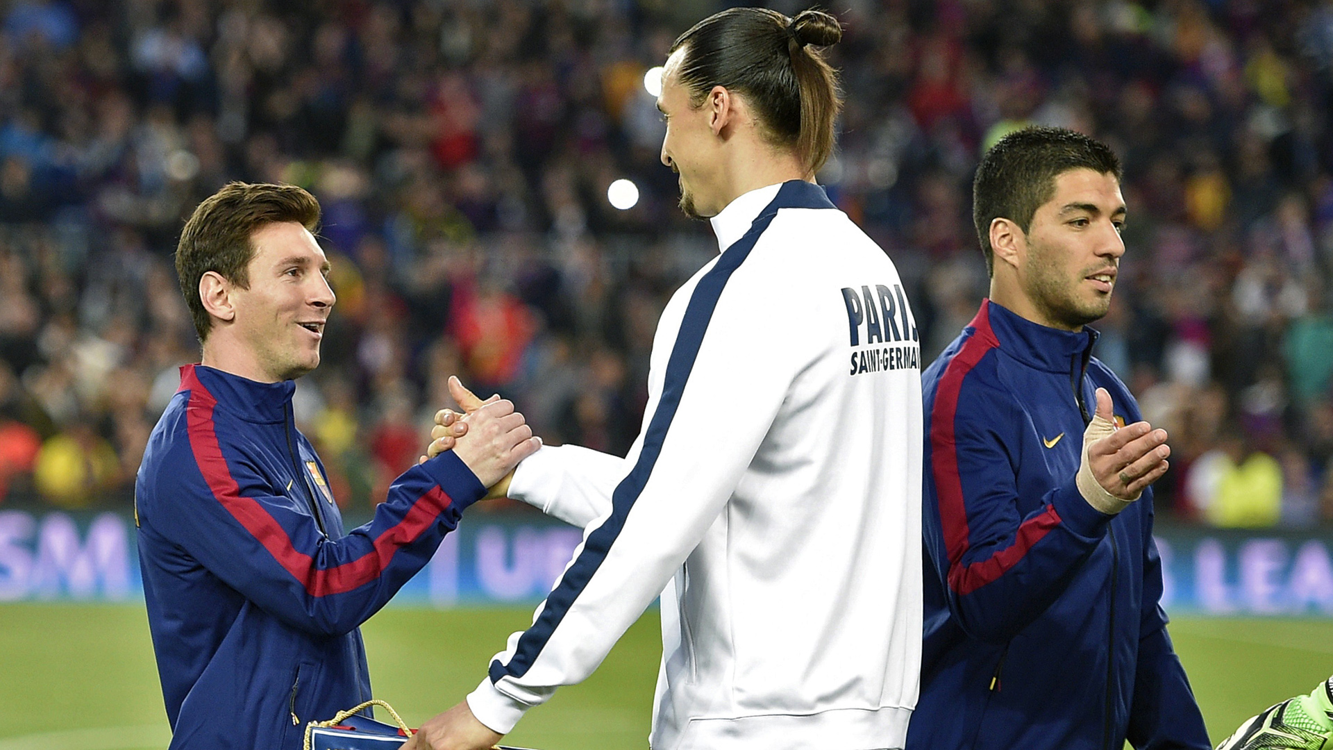 Image result for picture of messi and zlatan