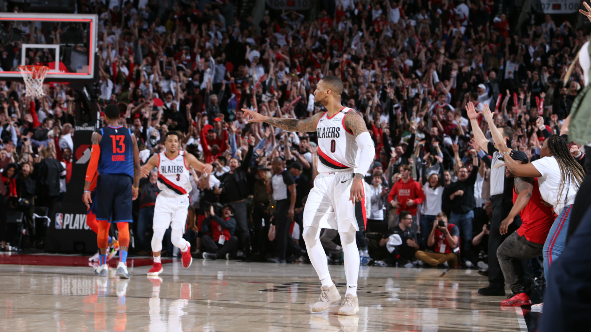 Nba Playoffs 2019 Denver Nuggets Vs Portland Trail