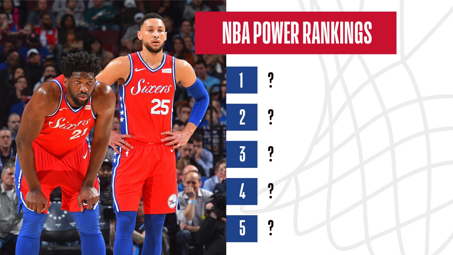 Nba Power Rankings Philadelphia 76ers Enter The Top 5