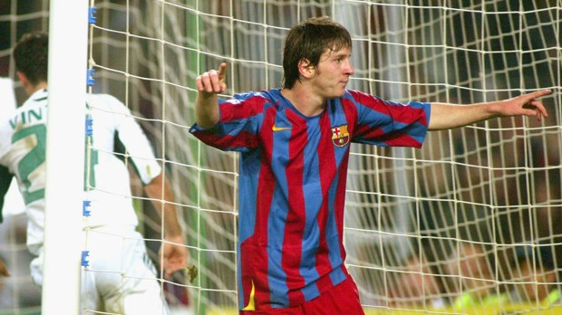 Lionel Messi 1st CL v Panathinaikos 2005