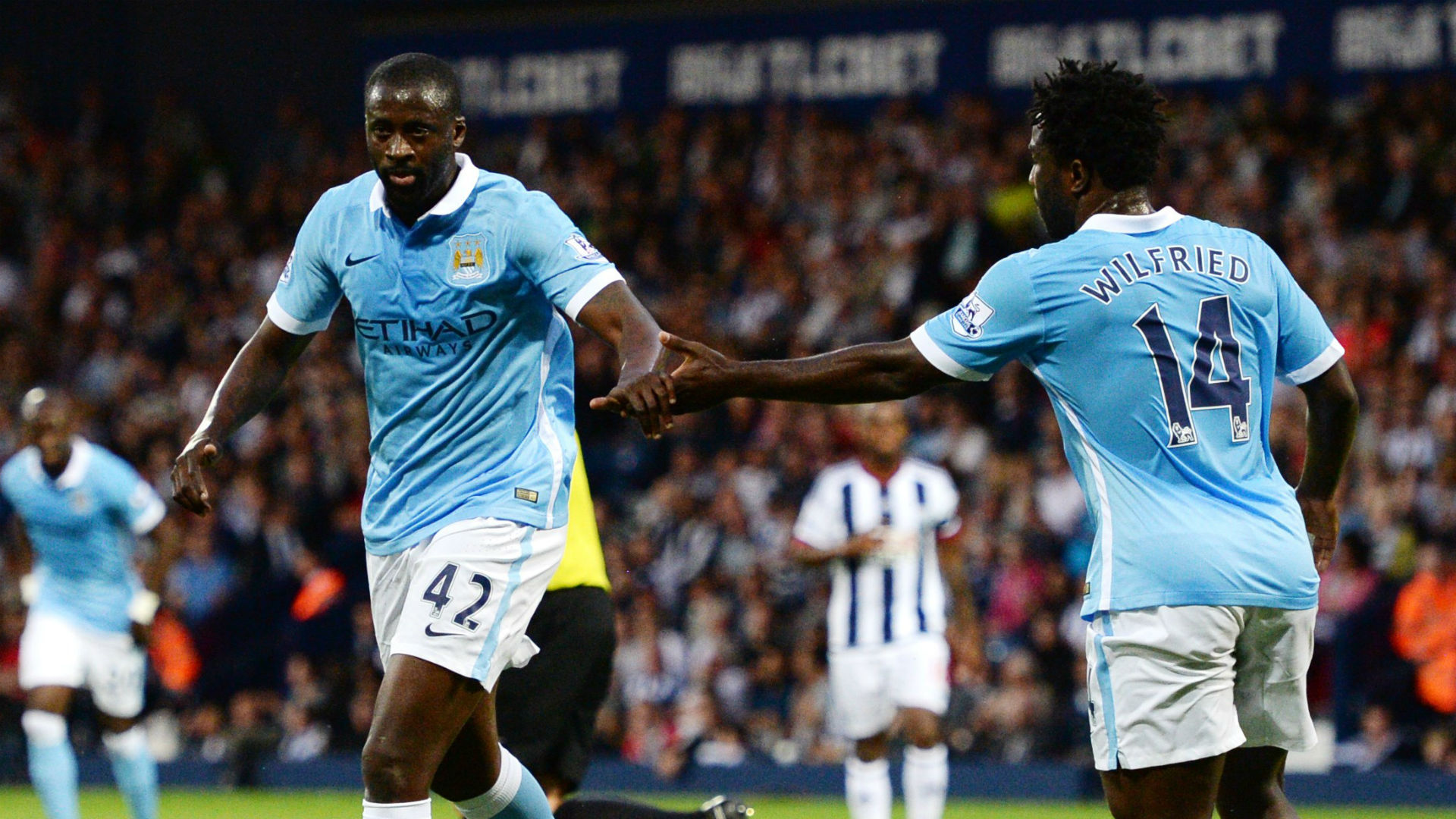 Yaya Toure; Wilfried Bony Manchester City