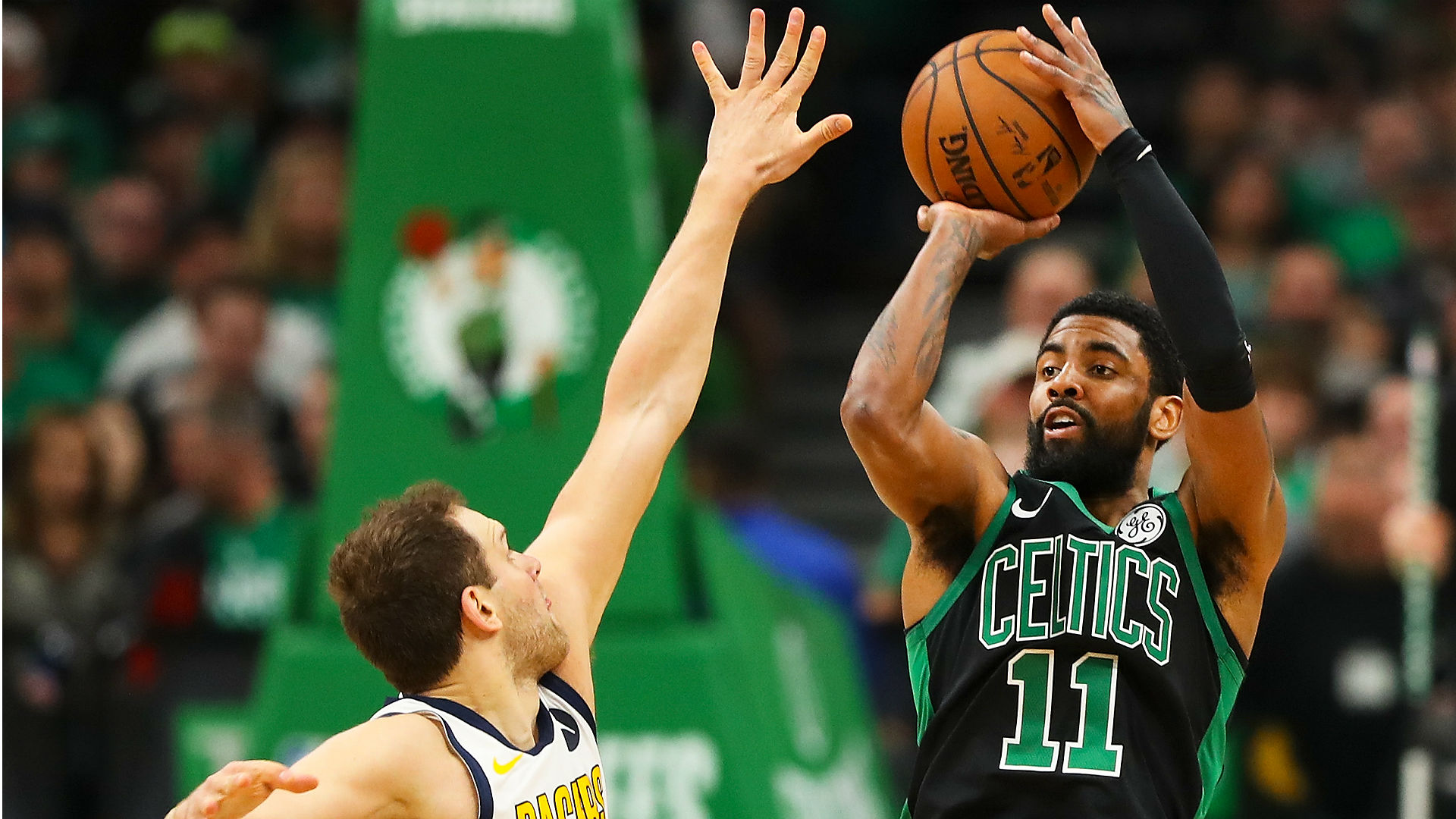 Kyrie Irving Discusses Celtics Low Scoring Game 1 Win