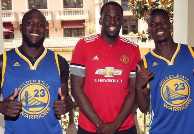 Pogba, Lukaku and NBA champ Draymond Green meet in LA