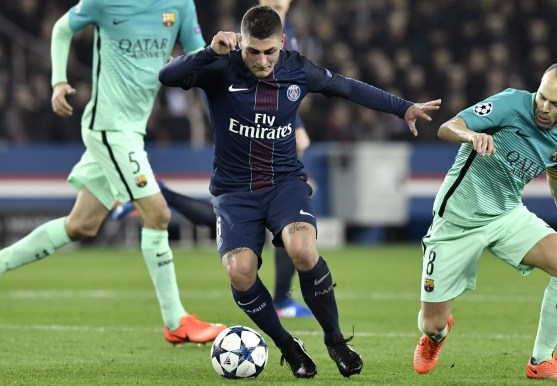 Paris Saint-Germain midfielder Marco Verratti