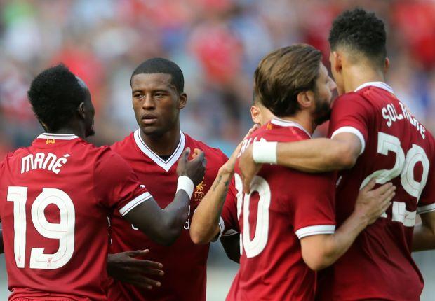 Liverpool celebrate against Hertha Berlin