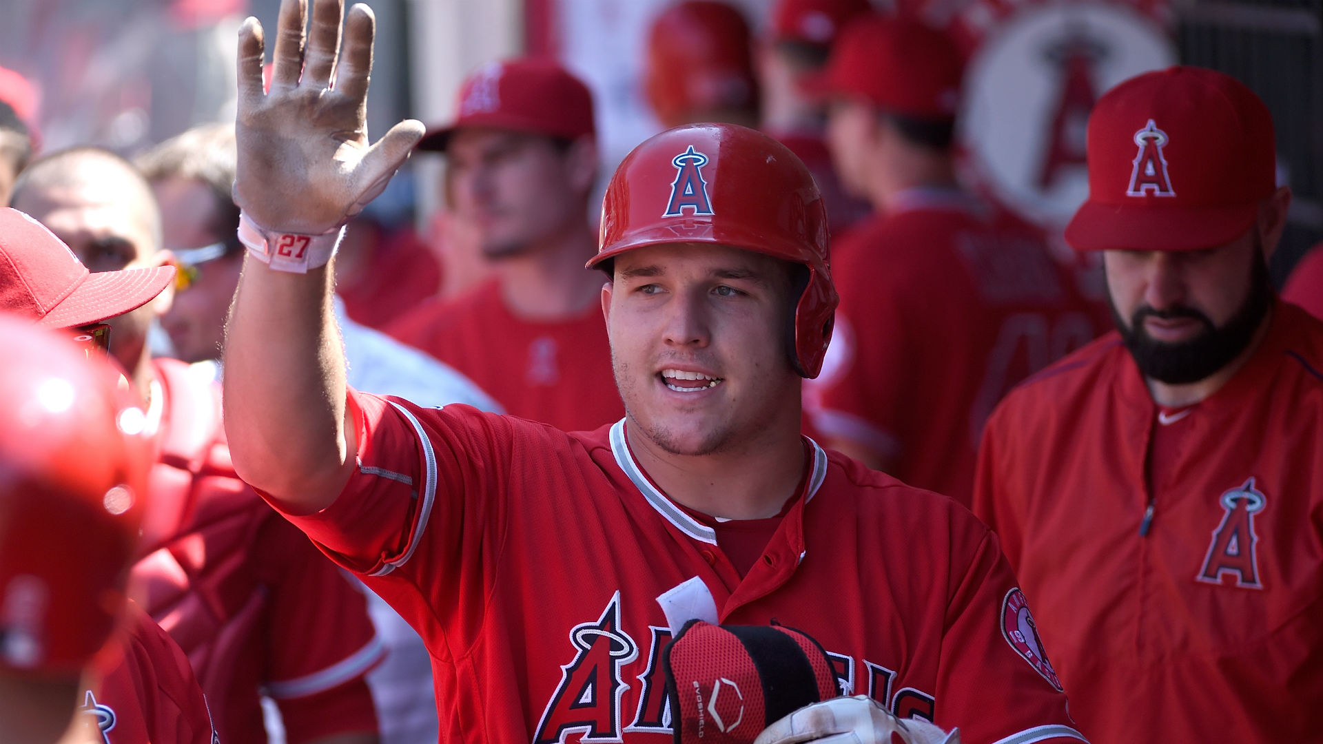 Image result for mike trout and angels lineup