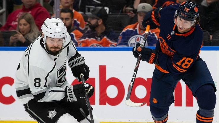 Drew Doughty tiene un período para olvidar en la derrota de Los Angeles Kings ante Edmonton Oilers 13