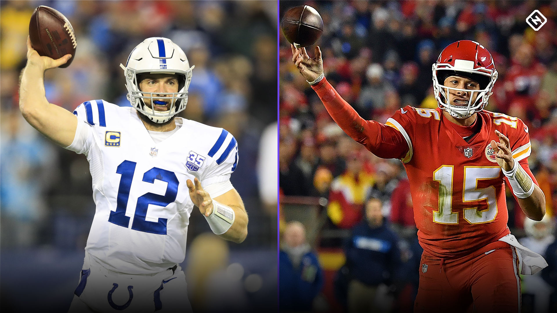 Image result for andrew luck patrick mahomes