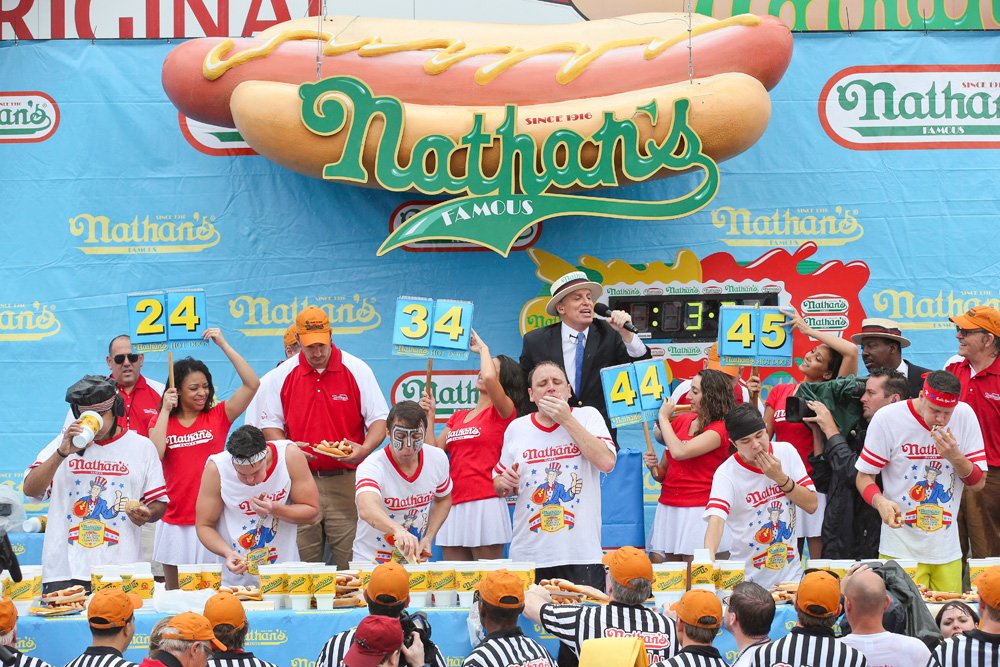 Image result for hot dog eating contest