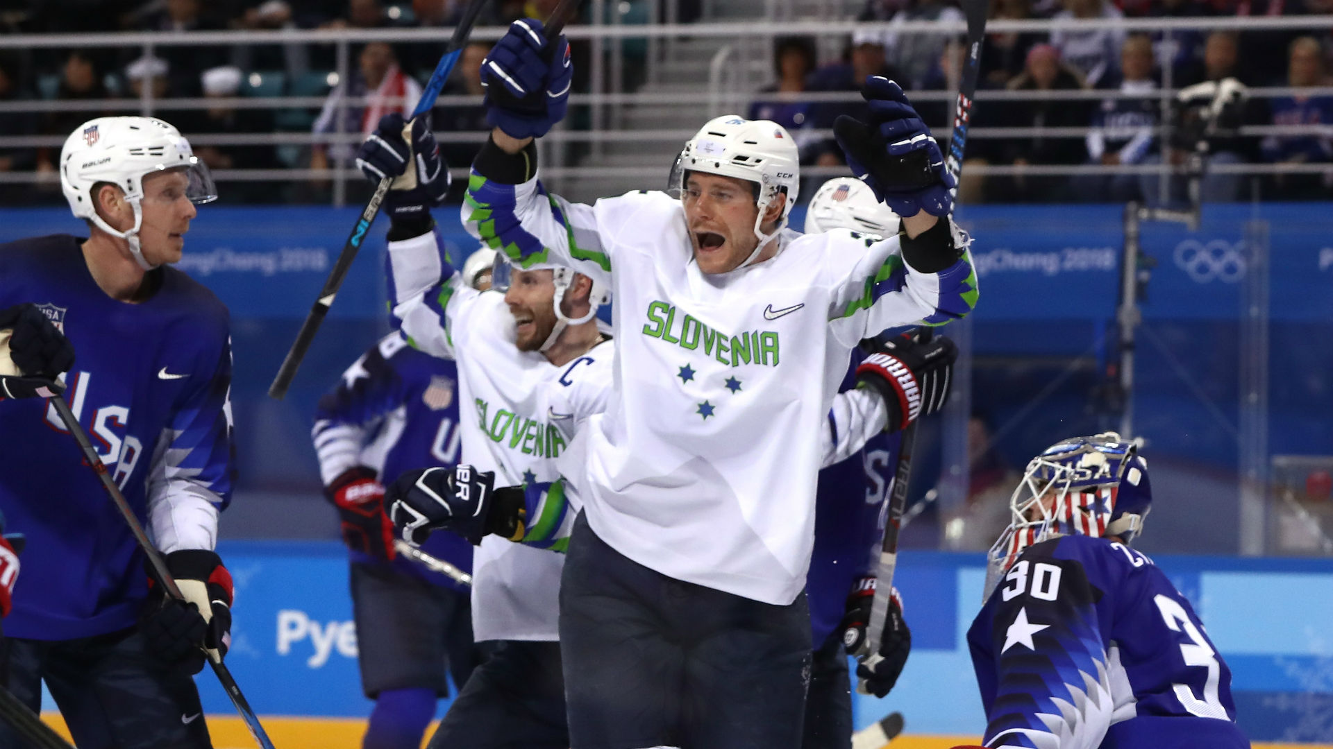 Image result for usa hockey loss to slovenia