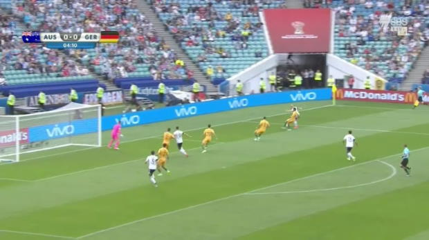 Brave Socceroos beaten by Germany