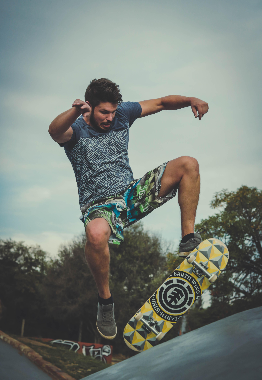 Iphone 8 X Wallpaper Boy Skateboarding Grayscale Photography 183 Free Stock Photo