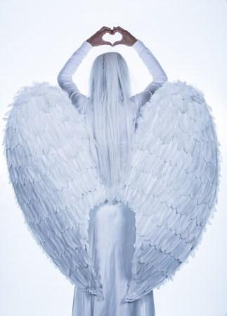Witte engel illustratie