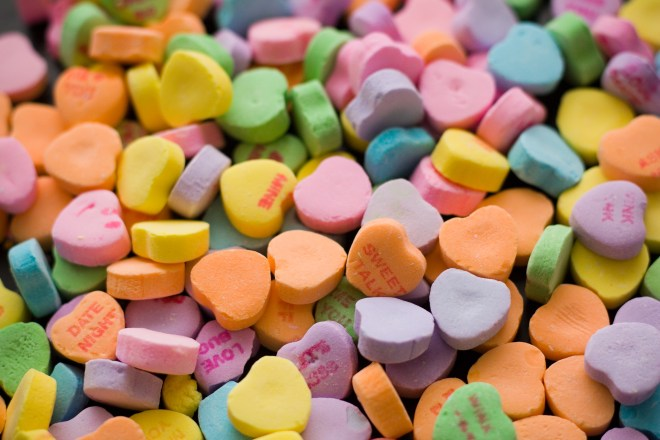 Bunch of Heart-shaped Assorted-color Tablets