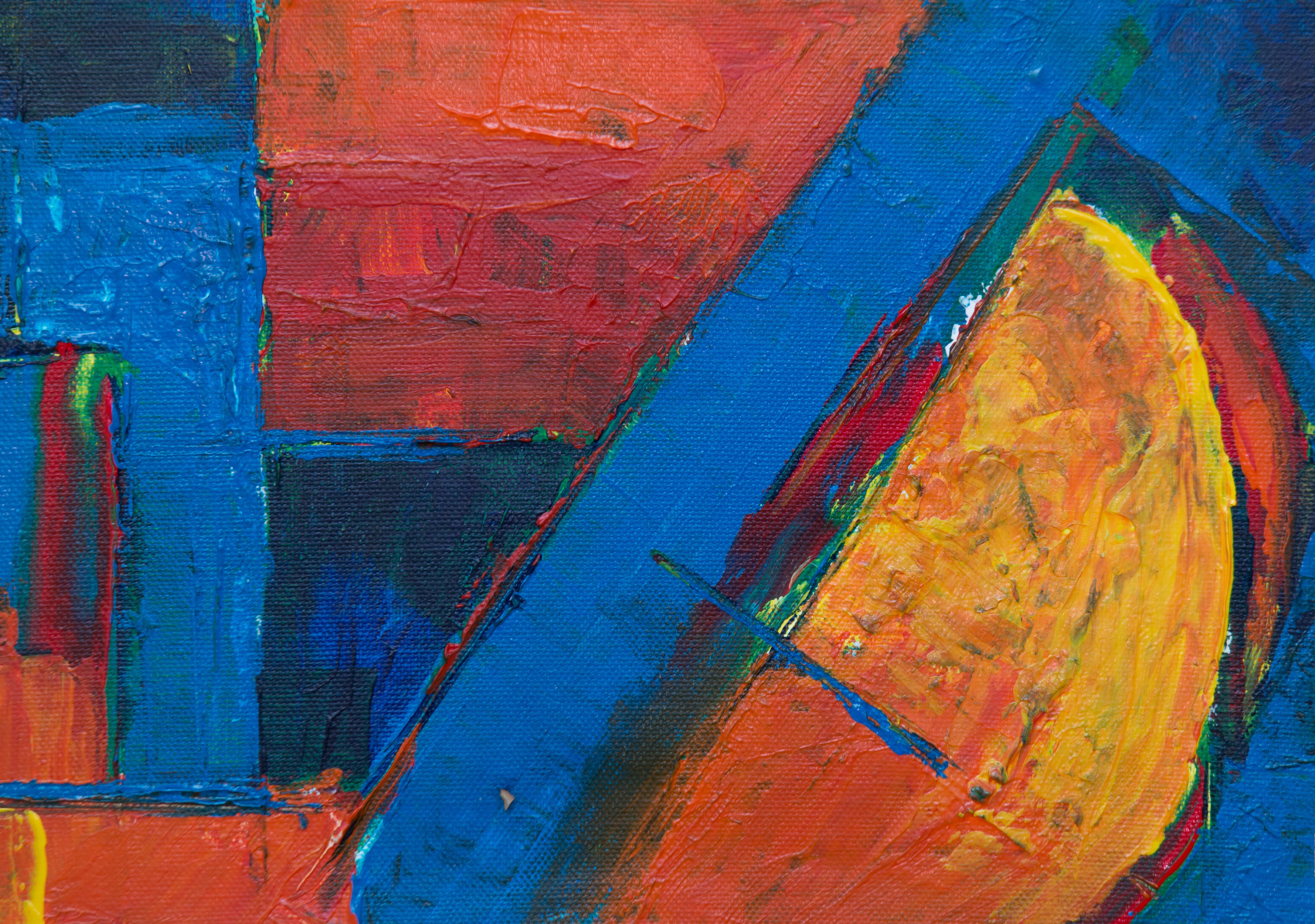 Multicolored Abstract Painting Free Stock