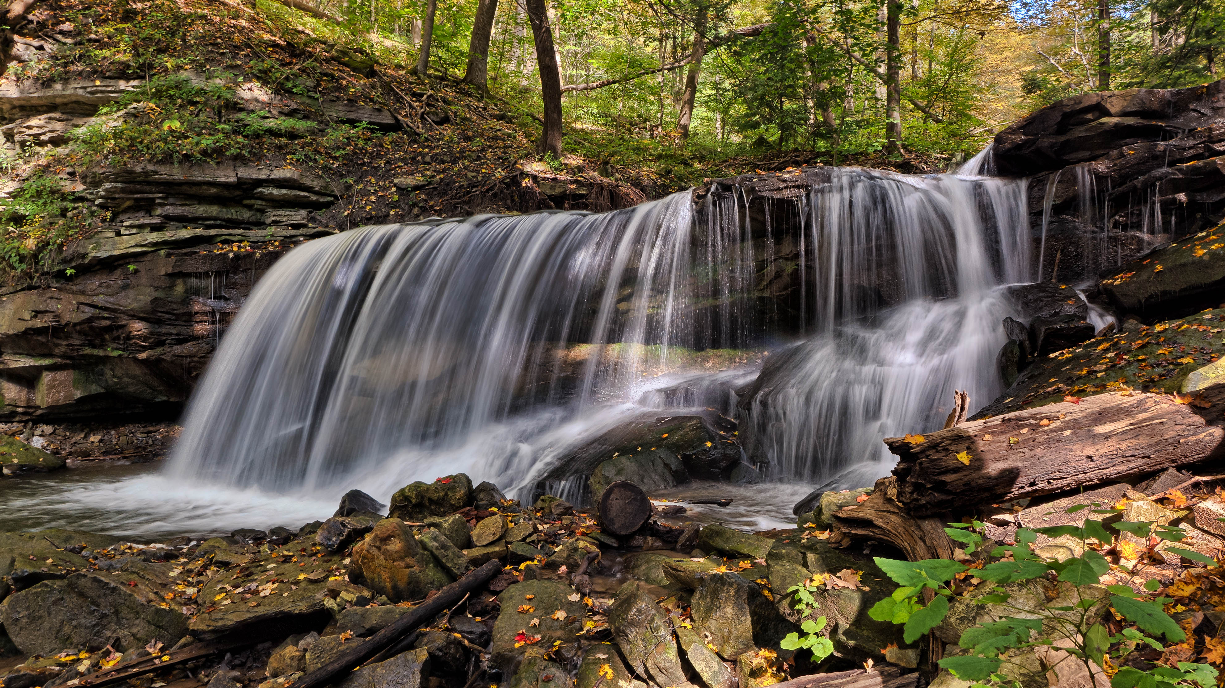 Beautiful Fall Landscape Wallpaper Water Falls In Time Lapse Photography 183 Free Stock Photo