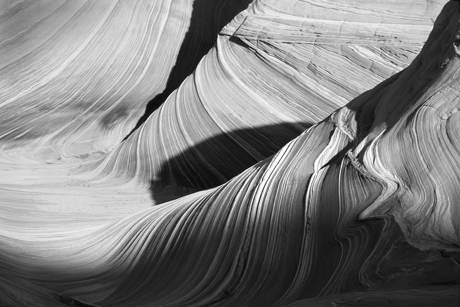 Grayscale Photography Of Mountain Pass · Free Stock Photo
