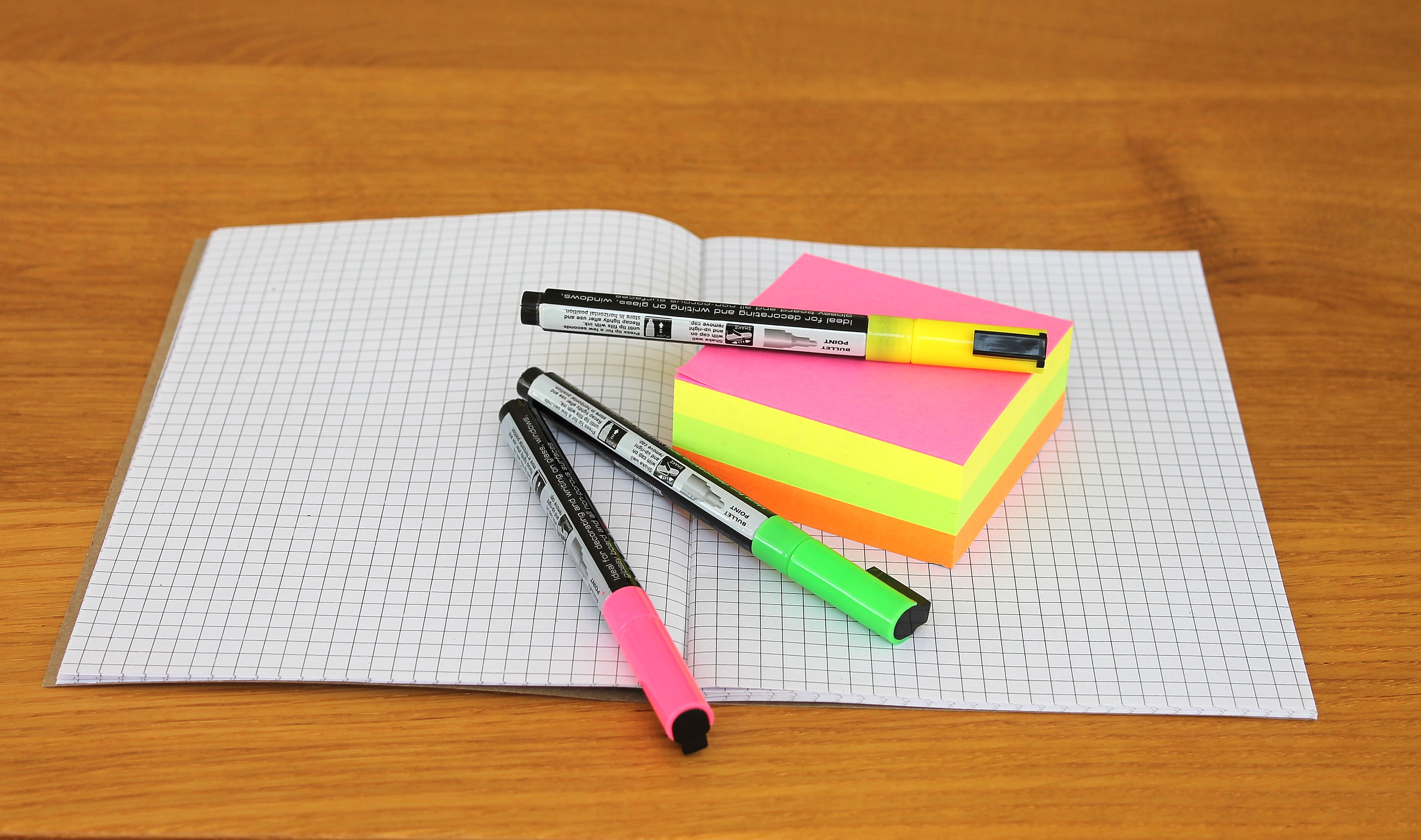 Black White Square Wallpaper Pink Green Yellow Blue And Purple Sticky Note Mounted On