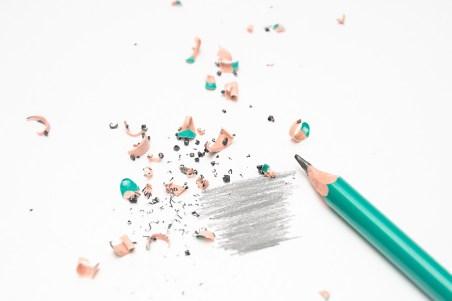 erasures on paper.