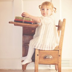Chair For Toddler Girl Kmart Bean Bag Chairs Australia In White Dress Sitting On Brown Wooden Free Stock Photo