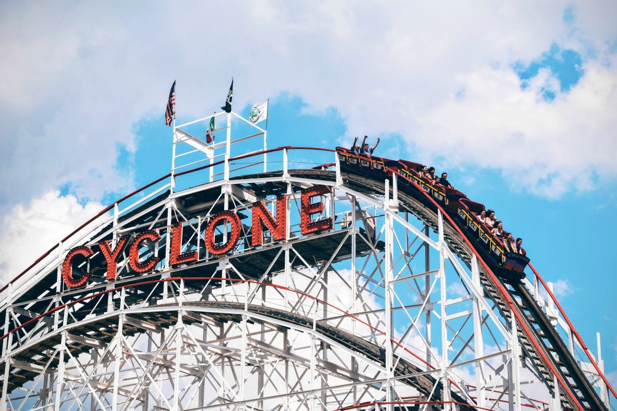 Cyclone Roller Coaster Ride