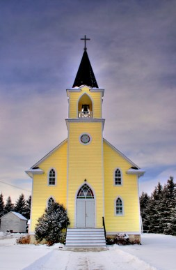 Yellow and Black Church