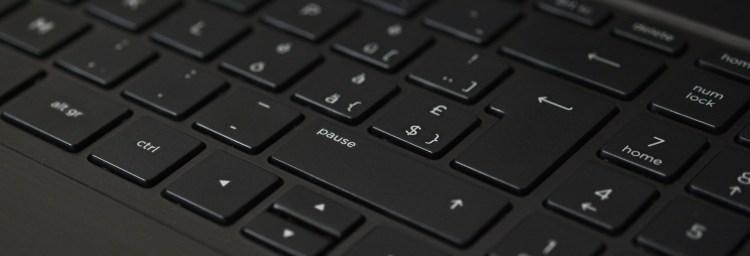 Black Laptop Computer Keyboard