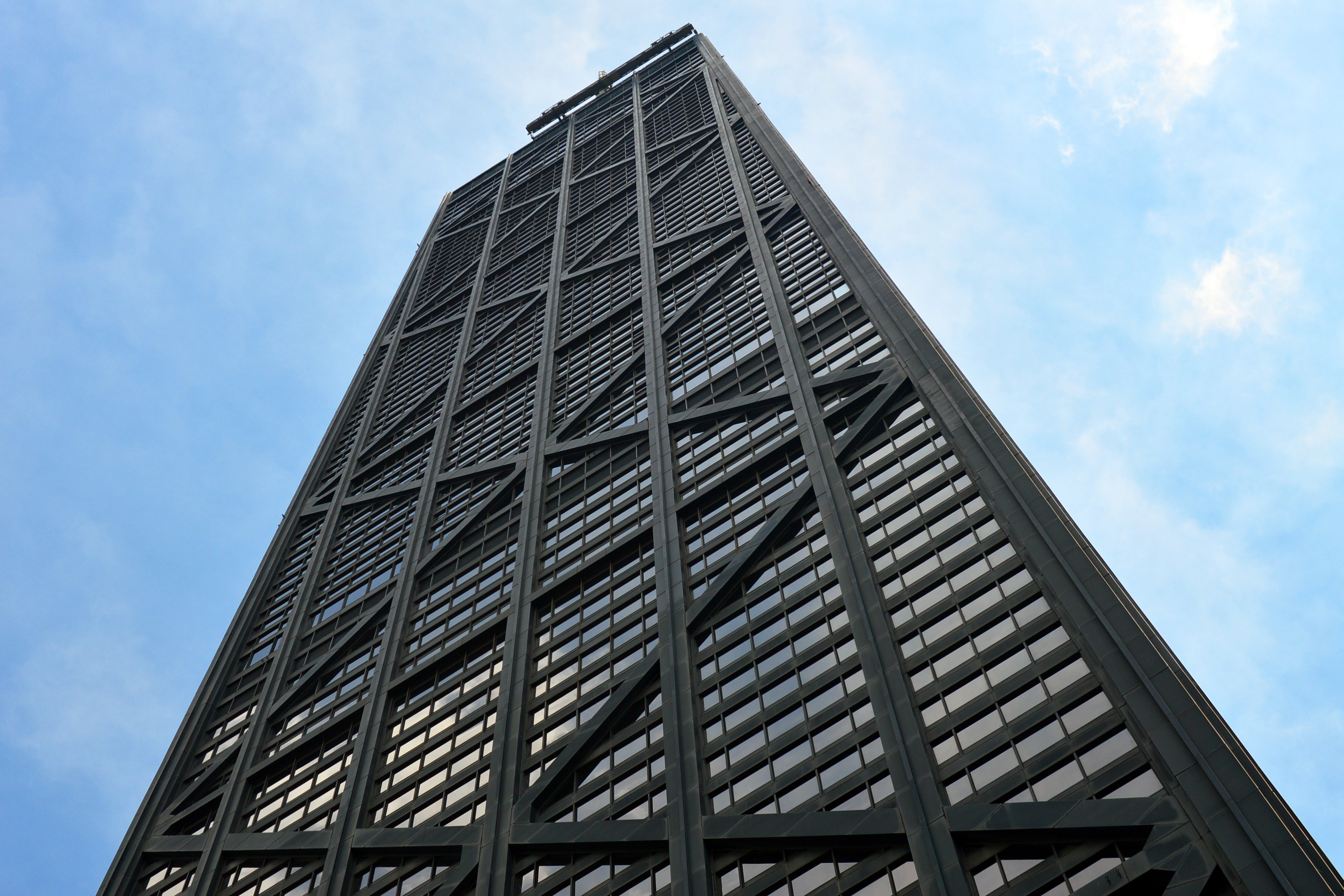 Iphone Optical Illusion Wallpaper Grey Concrete Tower Building 183 Free Stock Photo