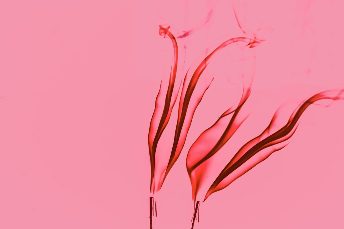 Pink Flame Abstract Wallpaper