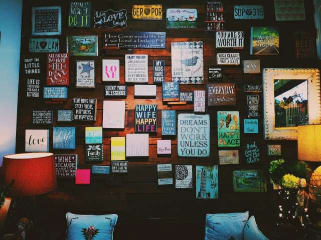 Photo of Assorted Letter Board Quote Hanged on Wall
